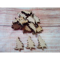 Mini Christmas trees laser cut pack of 10
